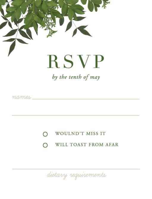 Mod Botanical - RSVP Cards