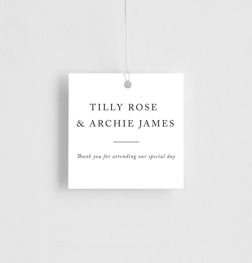 Black and White - Gift Tags
