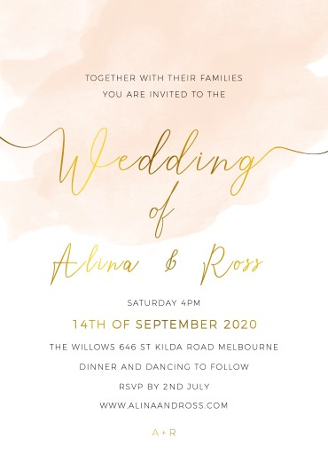 Rosey - Wedding Invitations