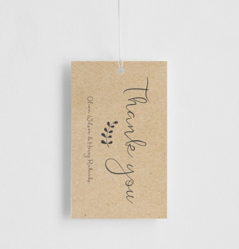 Charcoal Rustic - Gift Tags