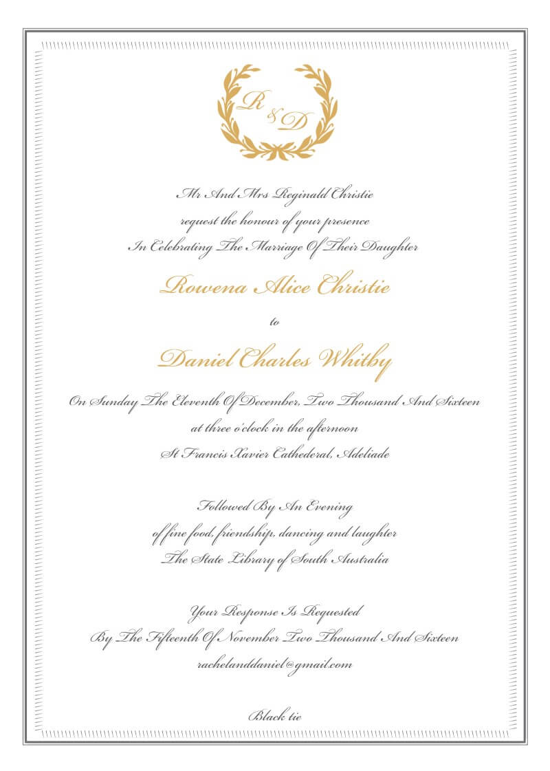 Regal Wreath - Wedding Invitations