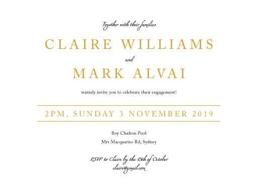 Minimal Foil - Engagement Invitations