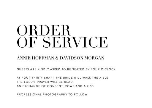 Serif Stroke - Order of Service