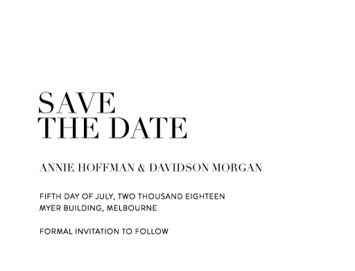 Serif Stroke - Save The Date