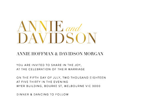 Serif Stroke - Wedding Invitations