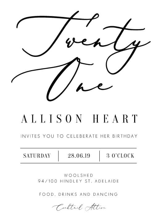 Milieu birthday - Birthday Invitations