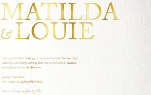 Typography - Invitations