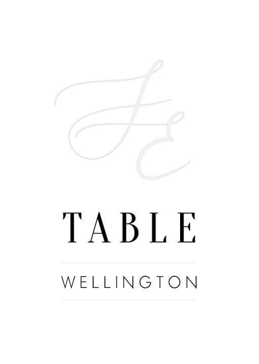 Milieu - table numbers
