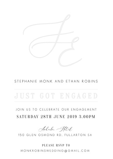 Milieu - Engagement Invitations