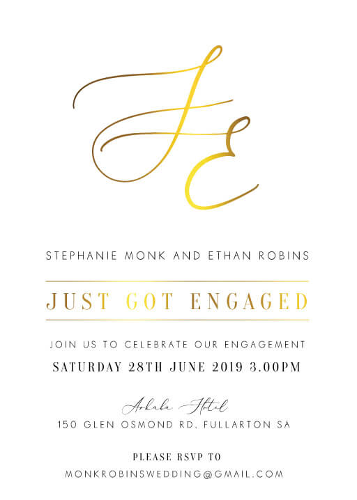 Milieu - Engagement Invitations