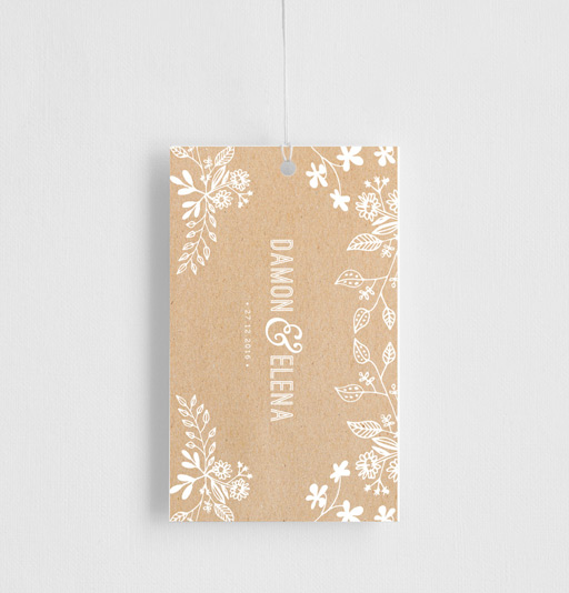 Rustic Floral Sketch - Gift Tags