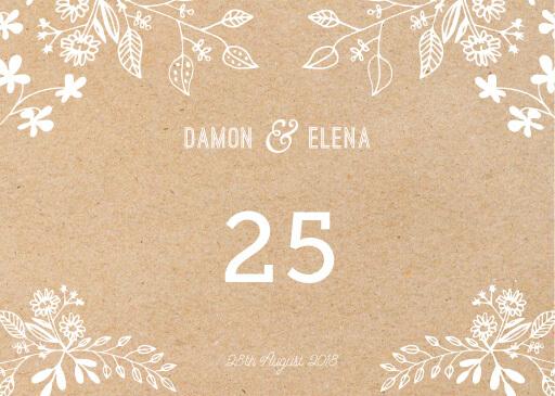 Rustic Floral Sketch - table numbers