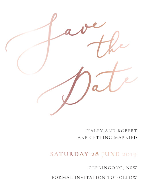 Rose et Gris - Save The Date