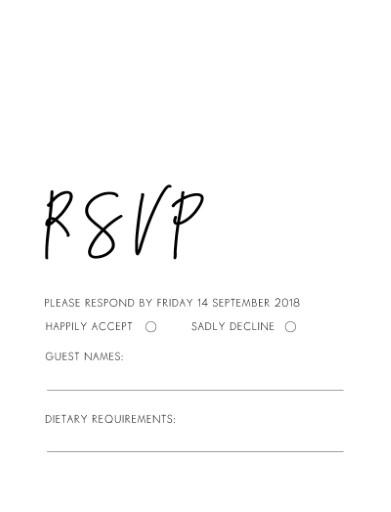 Clair De Lune - RSVP Cards