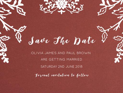 Autumn Romance - Save The Date