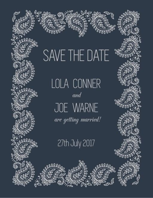 Paisley - Save The Date