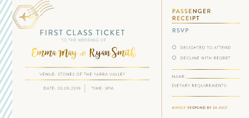 Lets Travel Together - RSVP Cards