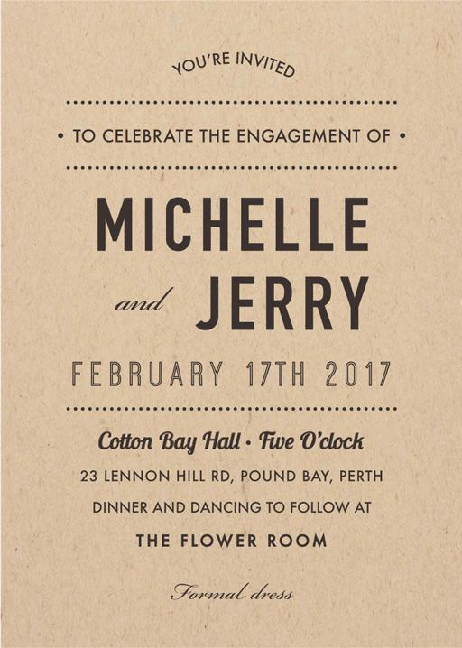 Woodstock - Engagement Invitations