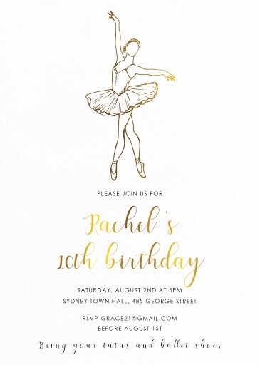 Tutu Party - Birthday Invitations