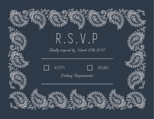 Paisley - RSVP Cards
