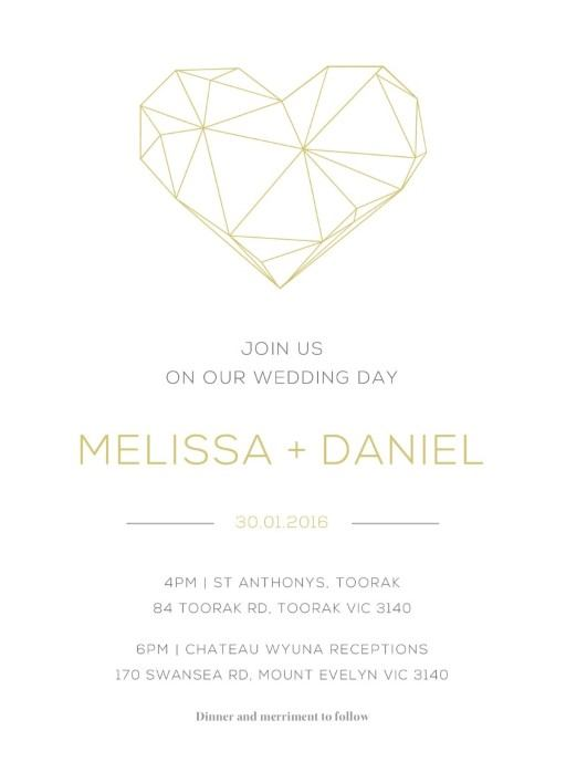 Diamond Love - Invitations
