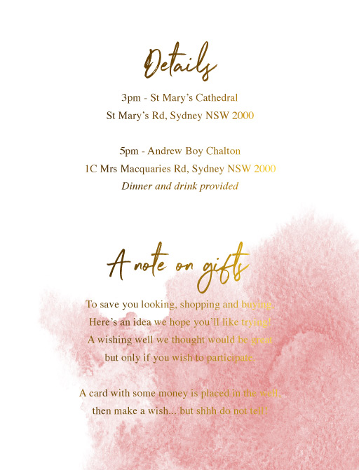 Moira Hughes Couture - Information Cards
