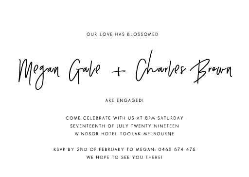 Clair De Lune - Engagement Invitations