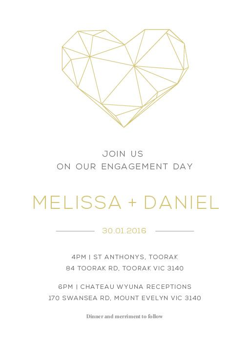 Diamond Love - Engagement Invitations
