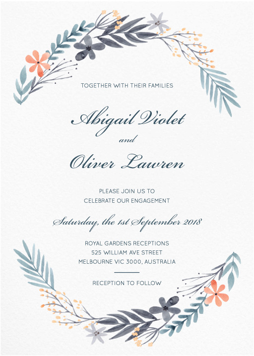 Great Dixter - engagement invitations