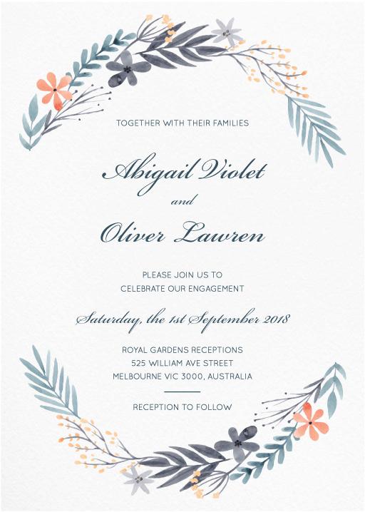 Engagement party invitations design it online paperlust great dixter engagement invitations stopboris Gallery