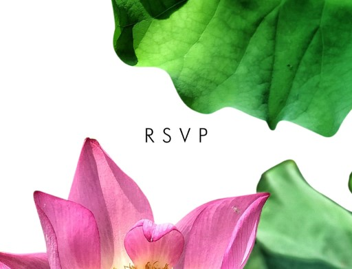 Lotus be lovers - RSVP Cards