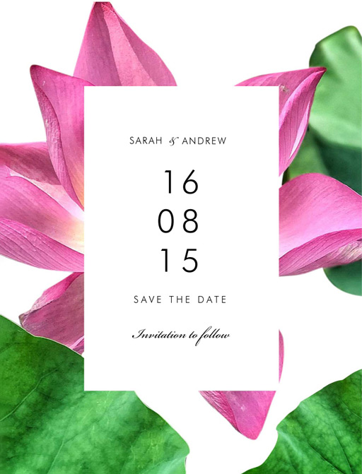 Lotus be lovers - Save The Date