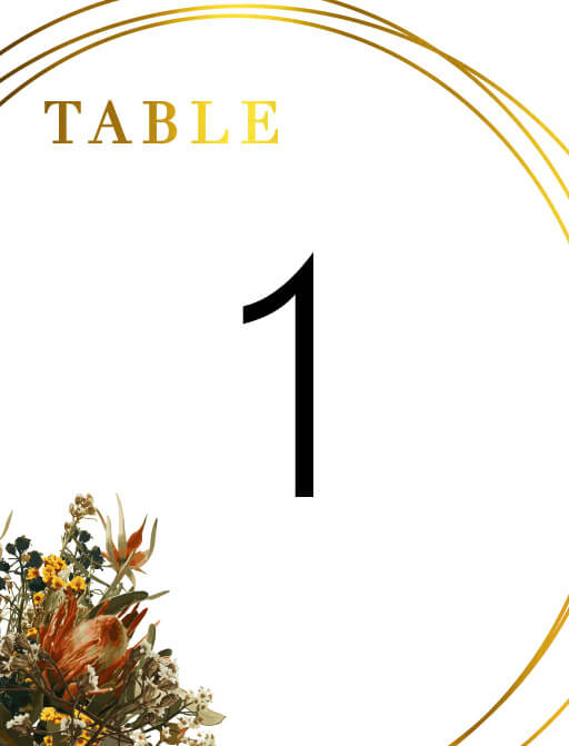 A Native Circle - Table Numbers