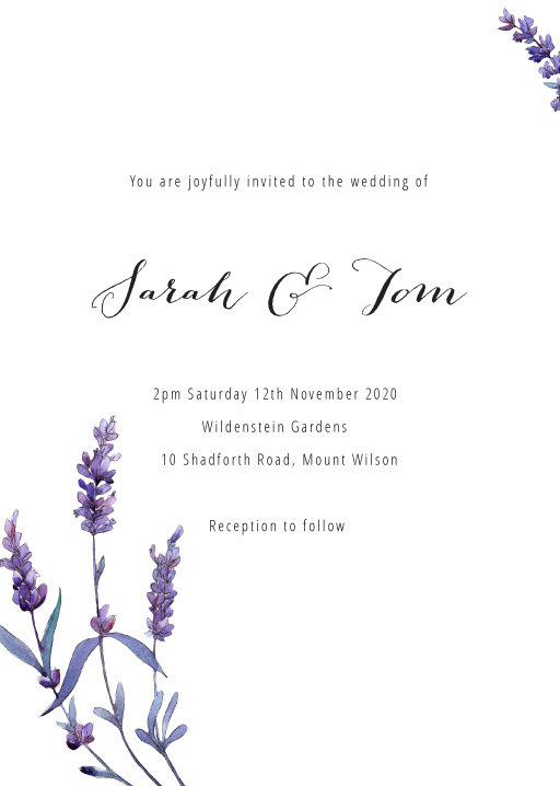Lavendula - Wedding Invitations