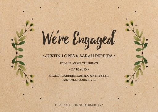 Rustic Garden - engagement invitations