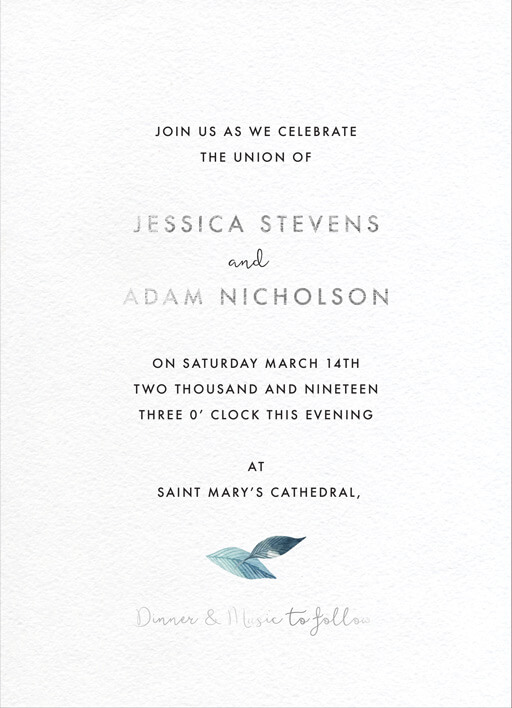 Stylistically Green - Wedding Invitations
