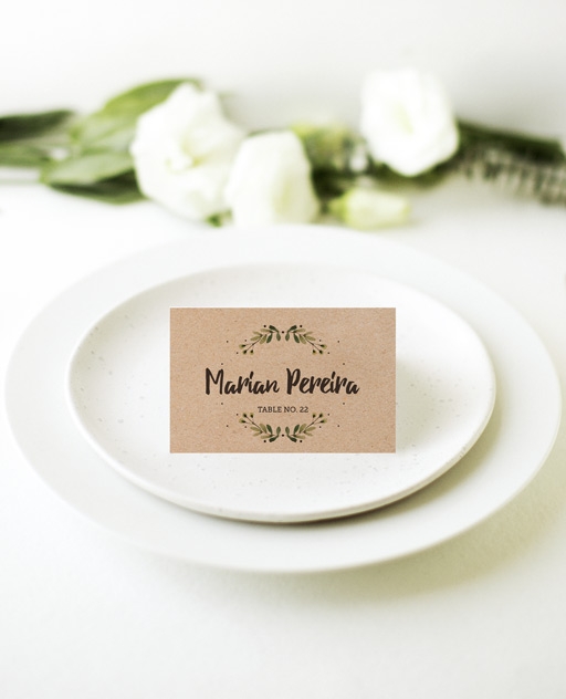Rustic Garden - Place Card