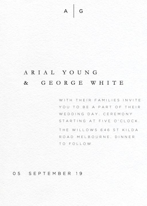 Nouveau - Wedding Invitations