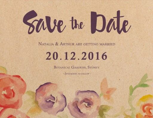 Rustic Botannica - Save The Date