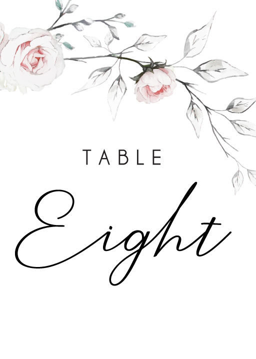 Florescence - table numbers