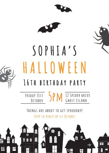 Spoooky - Birthday Invitations
