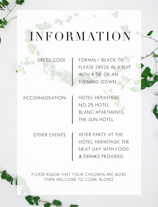 Ivy - Information Cards