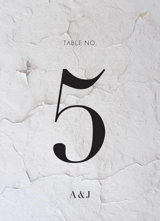 Ivy - table numbers