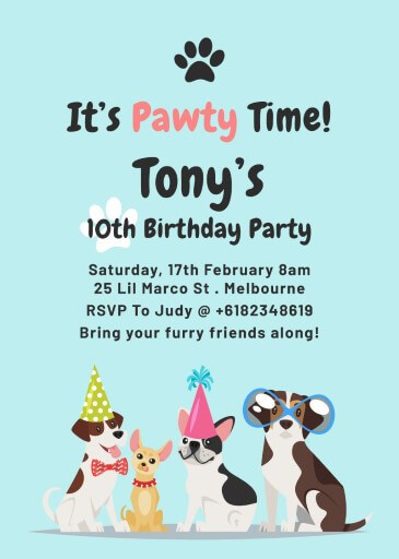 Doggie - Birthday Invitations