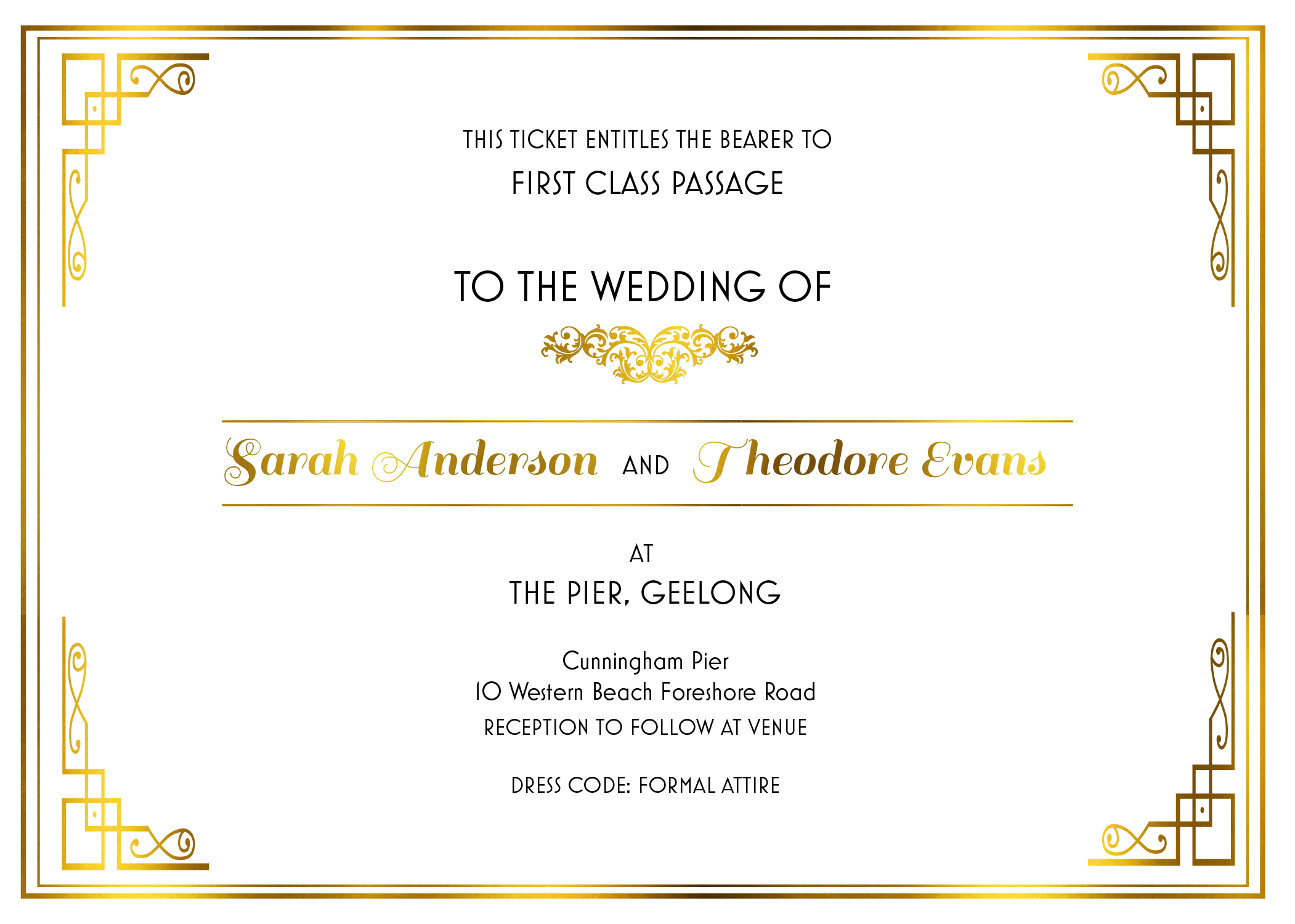All Aboard - Wedding Invitations