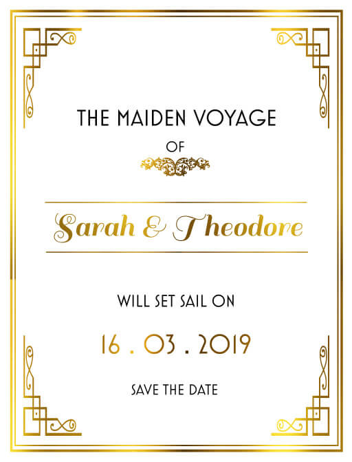 All Aboard - Save The Date