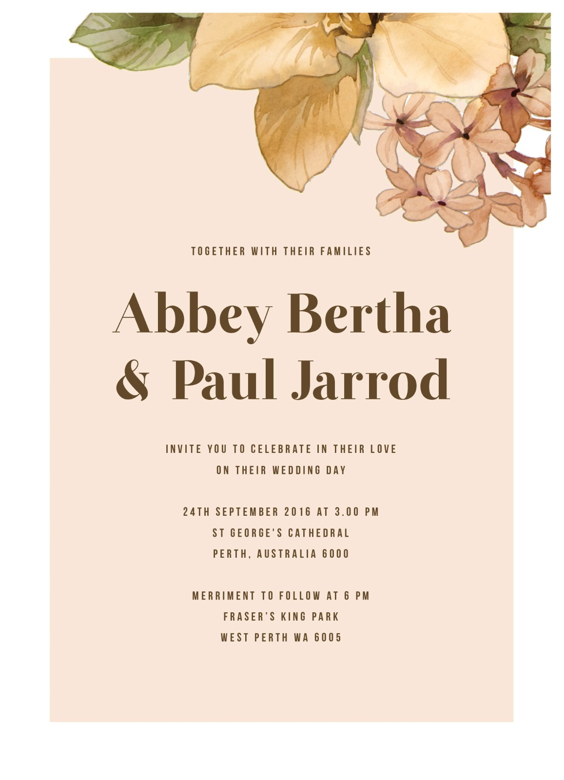 Blooming Day | Digital Printing | Wedding Invitations