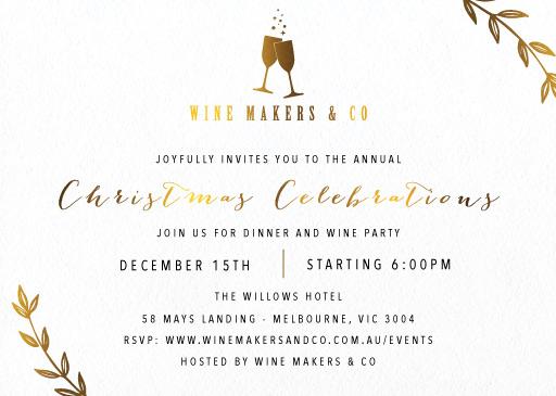 Bubbly - Christmas Party Invitations