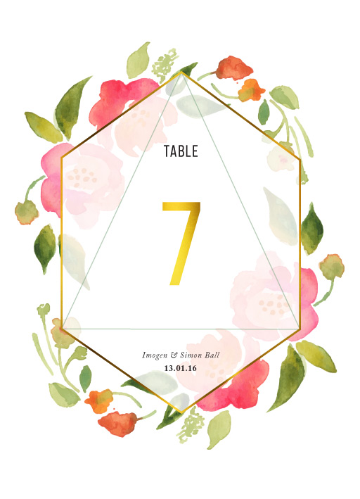 Wreath - Table Numbers