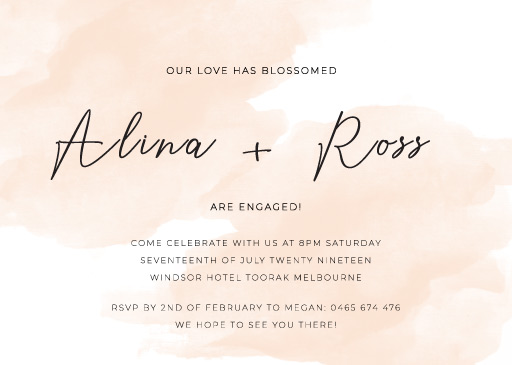 Rosey - Engagement Invitations